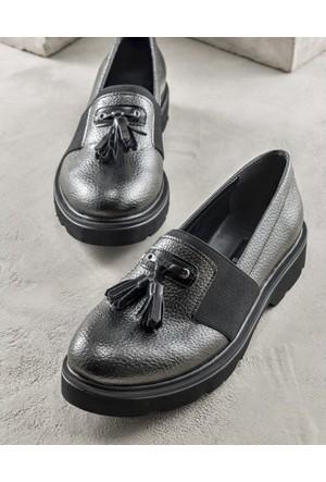 Elle Natale Kadın Ayakkabı Kurşun