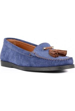 FootCourt Kadın Ayakkabısı Suet Mavi 40