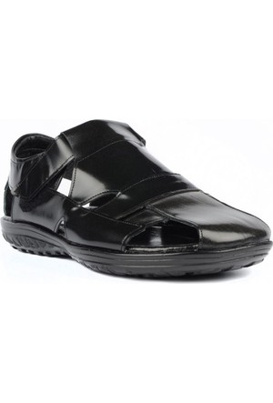 FootCourt Erkek Sandalet Siyah 45
