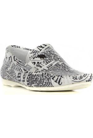 FootCourt Erkek Ayakkabısı Beyaz 45