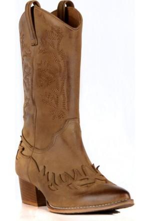 FootCourt Bayan Kovboy Çizmesi Dawn Taba 40