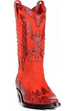 FootCourt Bayan Kovboy Çizmesi Buz Kırmızı 40