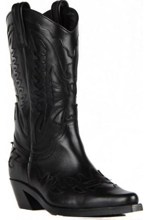 FootCourt Bayan Kovboy Çizmesi Buz Siyah 40