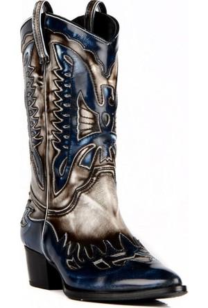 FootCourt Bayan Kovboy Çizmesi Buz Mavi Açma 40