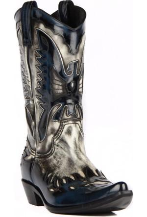 FootCourt Erkek Kovboy Çizmesi Buz Mavi Açma 45