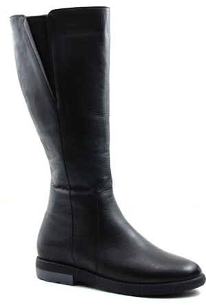 Cityzen 1305 Kadın Deri Çizme Siyah