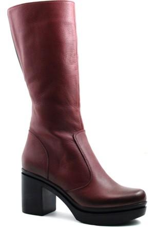 Cityzen 750 Kadın Deri Çizme Bordo