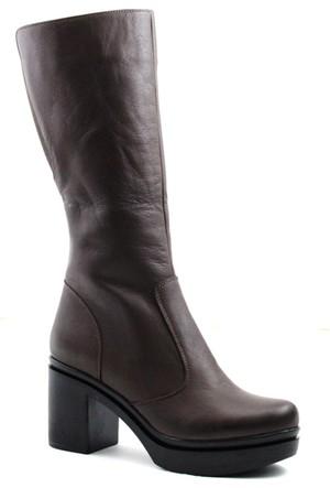 Cityzen 750 Kadın Deri Çizme Kahverengi