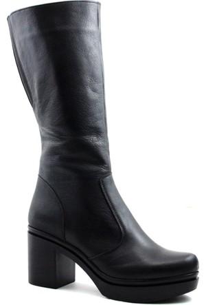 Cityzen 750 Kadın Deri Çizme Siyah