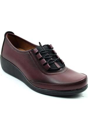 Wanetti 1315 Kadın Comfort Ayakkabı Bordo