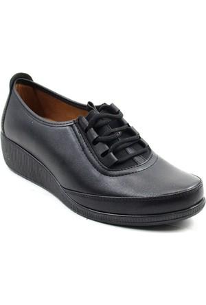 Wanetti 1315 Kadın Comfort Ayakkabı Siyah