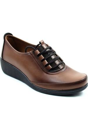 Wanetti 1315 Kadın Comfort Ayakkabı Taba