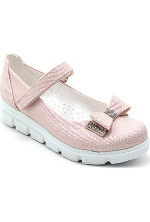 Varkan Tokalı Kız Çocuk Ayakkabı Pembe