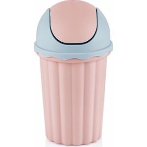 bayev mini masaüstü çöp kovası - pembe