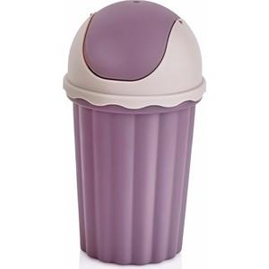 bayev mini masaüstü çöp kovası - mor