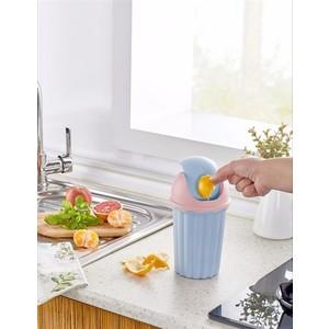 bayev mini masaüstü çöp kovası - mavi