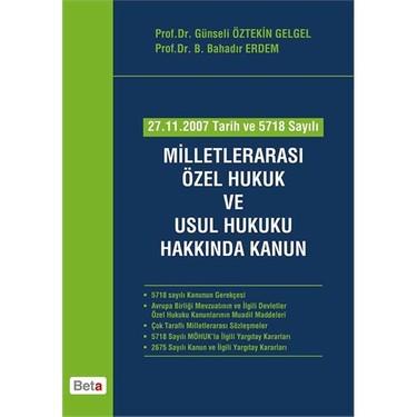 Milletlerarası Özel Hukuk ve Usul Hukuku Hakkında Kanun - B. Kitabı