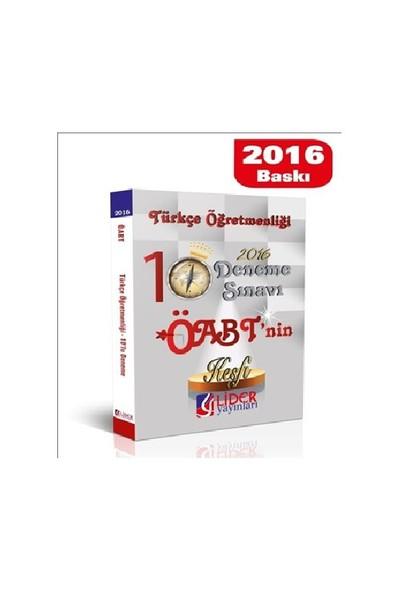 Lider Öabt 2016 Türkçe Öğretmenliği 10'Lu Deneme