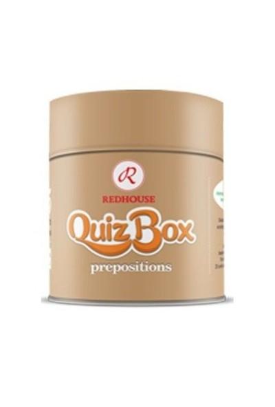 Redhouse Quiz Box Preposition (İngilizce Boşluk Doldurma Kelime Kartları)-Kolektif