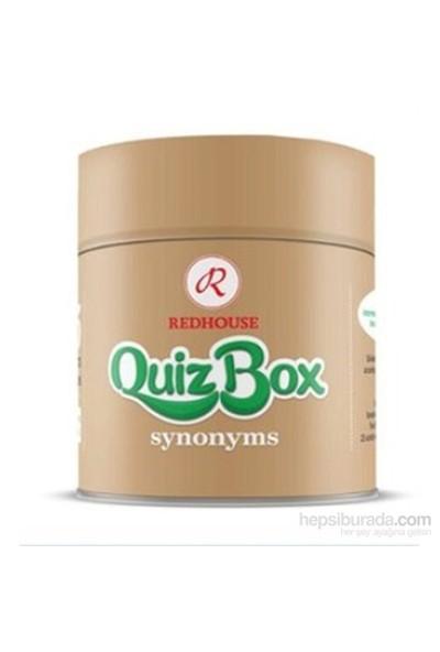 Redhouse Quiz Box Synonyms(İngilizce Eş Anlamlı Kelime Kartları)-Kolektif