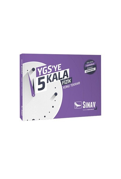Sınav Yayınları Ygs Ye 5 Kala Fizik Konu Tekrarı-Kolektif