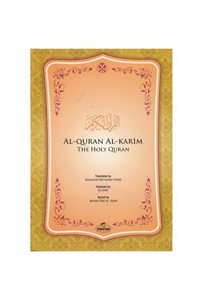 İngilizce Kur'An-I Kerim Meali Metinsiz - Muhammed Marmaduke Picktall
