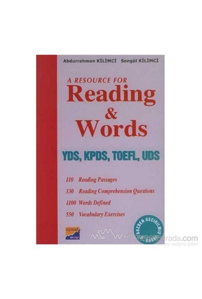 A Resource For Reading And Words Yds, Kpds, Toefl, Uds-Abdurrahman Kilimci