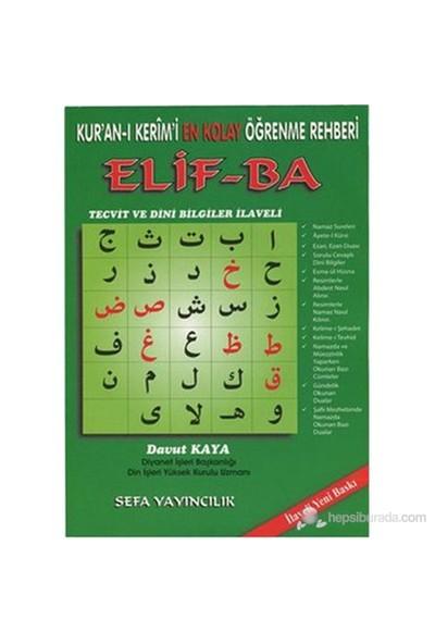Kur'an-ı Kerim'i En Kolay Öğrenme Rehberi Elif-ba (Tecvit ve Dini Bilgiler İlaveli Renkli) - Davut Kaya