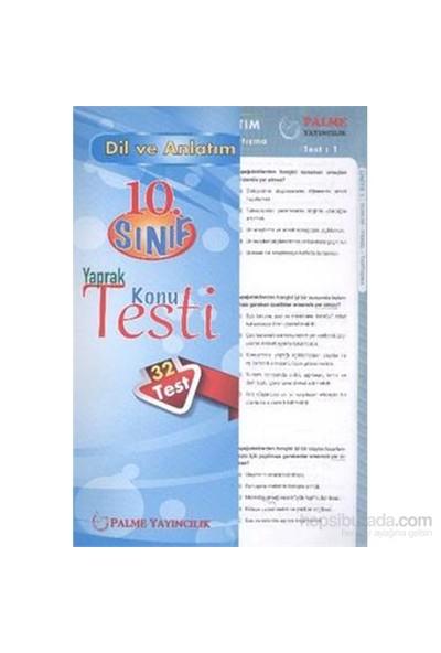 Palme 10. Sınıf Dil ve Anlatım Yaprak Konu Testi
