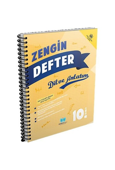 Sözün Özü Yayınları 10.Sınıf Dil Ve Anlatım Zengin Defter