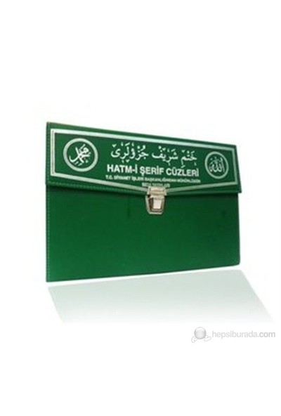 Kur'an-ı Kerim 30 Cüz Hatim Seti (Cami Boy, Çantalı, Yeşil Kapak, Kod: 110)