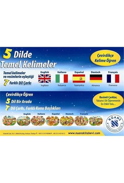 Kelime Çarkları Seti - 5 Dilde Temel Kelimeler (İngilizce, Almanca, İspanyolca, Fransızca, İtalyanca-Kolektif