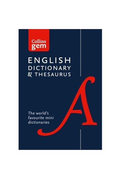 Collins Gem English Dictionary And Thesaurus-Kolektif