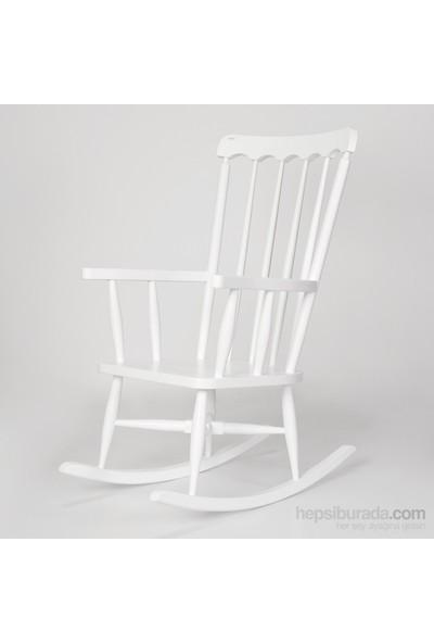 Sezar Sallanan Sandalye Lake Beyaz