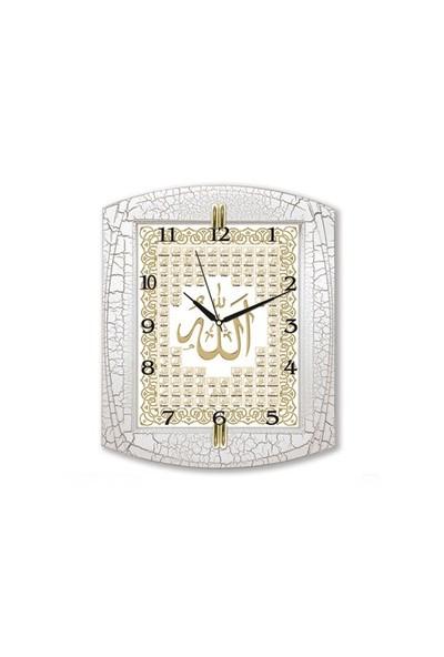 Time Gold Ayetli Duvar Saati Esma-Ül Hüsna