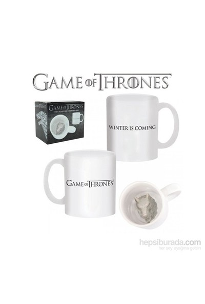 Game Of Thrones Stark Sculpted Direwolf Mug Bardak