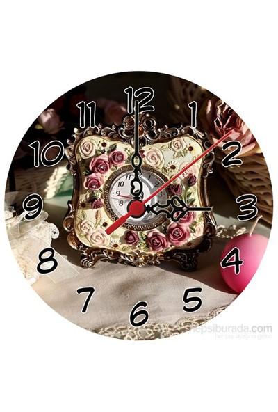 K Dekorasyon Saat Desenli Saat