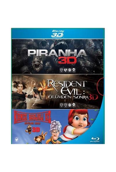 3D Blu-Ray Box Set (Piranha 3D - Resident Evil: Ölümden Sonra 3D - Kırmızı Başlıklı Kız 3D)