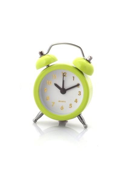 Gold Dekor Mini Çalar Saat Yeşil