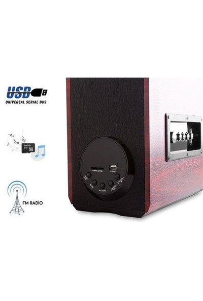 Mikado MD-101BT 2.0 Usb+SD+FM Radyolu Bluetooth Speaker