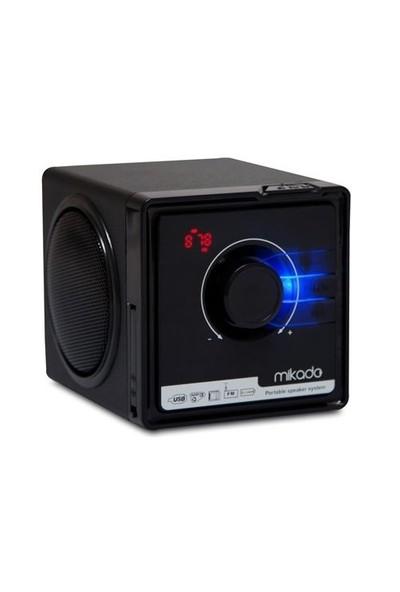 Mikado MD-236 3W+3W Siyah FM Radyo Destekli Müzik Kutusu