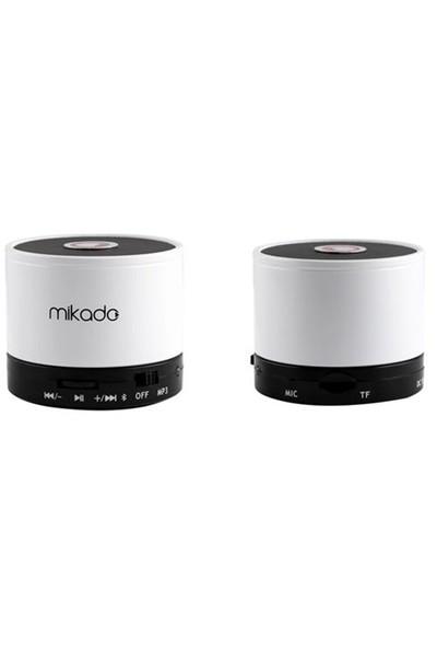 Mikado MD-14BT Beyaz TF Kart Destekli Bluetooth Şarjlı Speaker