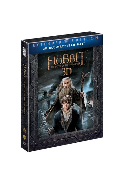 The Hobbit Botfa Extended Edition (2 Disk 3D Bd Film + 3 Disk 2D Bd Özel Seçenekler) (3D Blu Ray Disc)