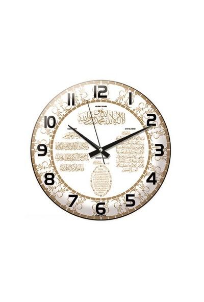 Time Gold Ayetli Duvar Saati