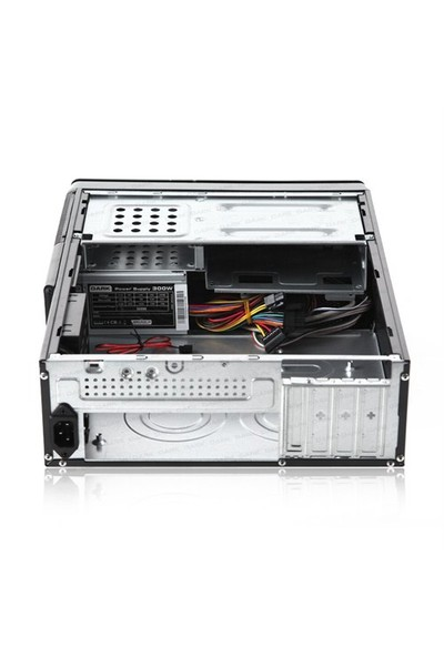 Dark Aura 300W Kart Okuyuculu, SSD Ready MicroATX / Mini ITX Slim Tower Kasa (DKCHAURA300)
