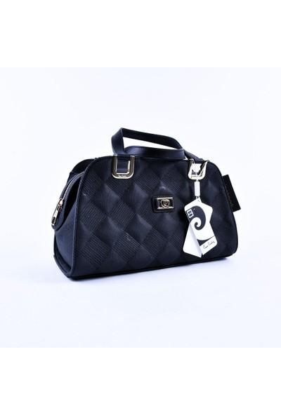 Pierre Cardin Siyah Bayan Logo Desenli Bayan El Çantası 30699