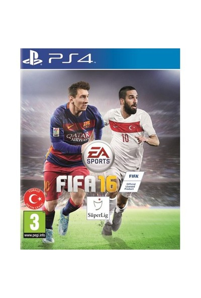 Fifa 16 PS4 Oyun (Türkçe Metin Çevirisi Vardır)