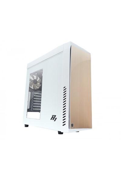 Zalman R1White 1 x Mikrofon 1 x Kulaklık, 1 x USB 3.0, 2 x USB 2.0 ATX Mid Tower Beyaz Bilgisayar Kasa