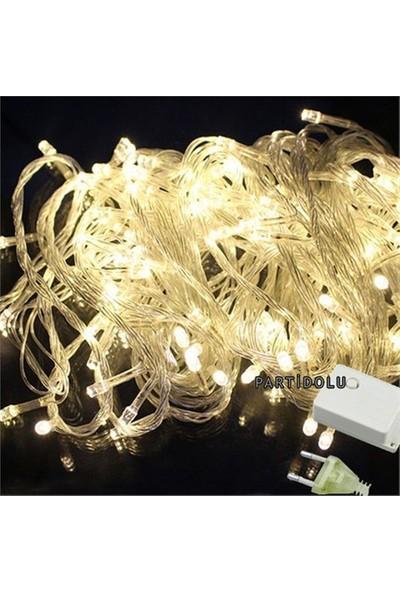 Pandoli Beyaz Kablolu 100 Ampüllü Led Işık Beyaz Renk 10 Metre