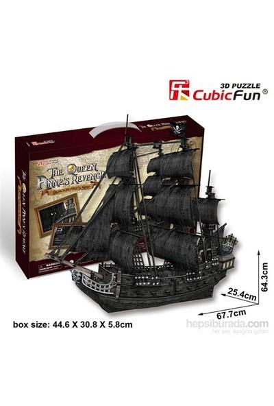 Cubic Fun 3D 308 Parça Puzzle The Queen Anne's Revenge